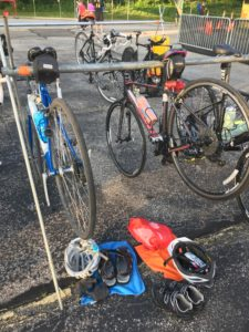 2018 Twinsburg Duathlon staging area | women fit and strong over 50