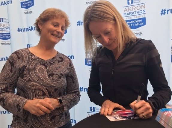strengthening the mind with Deena Kastor at the Akron Marathon