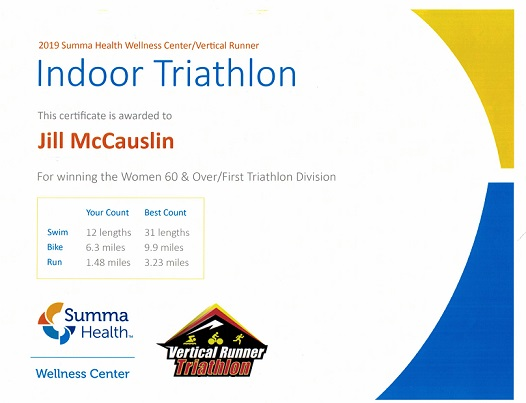 certificate indoor triathlon