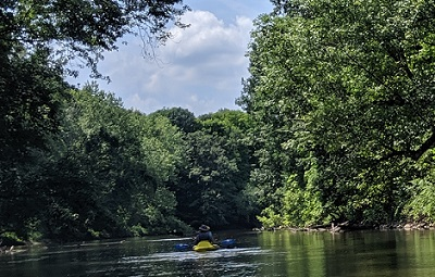 kayaking on the cuyahoga river